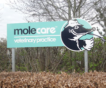 Mole Care road sign